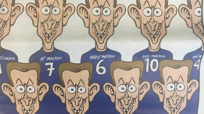 Charlie Hebdo опубликовал настоящую карикатуру на чемпионов мира по футболу-2018