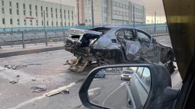 В ДТП на Пискаревском проспекте пострадал один человек