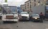 Пассажир маршрутки повредил ногу во время ДТП на Кантемировской улице
