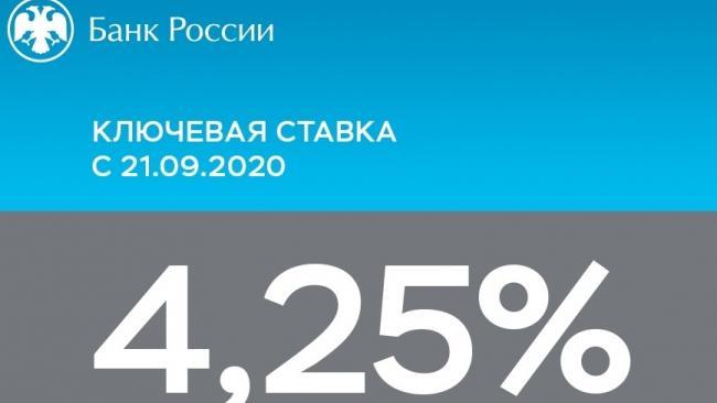 ЦБ России сохранил ключевую ставку на уровне 4,25%