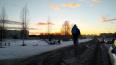 В Выборгском районе белая иномарка вылета с дороги ...