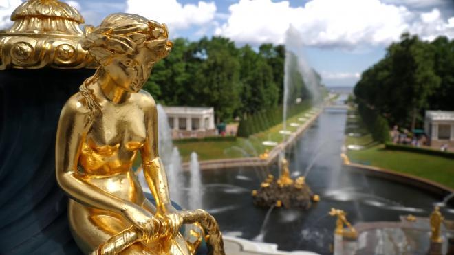 """Государственный музей-заповедник """"Петергоф"""" закрыл парки из-за непогоды"""