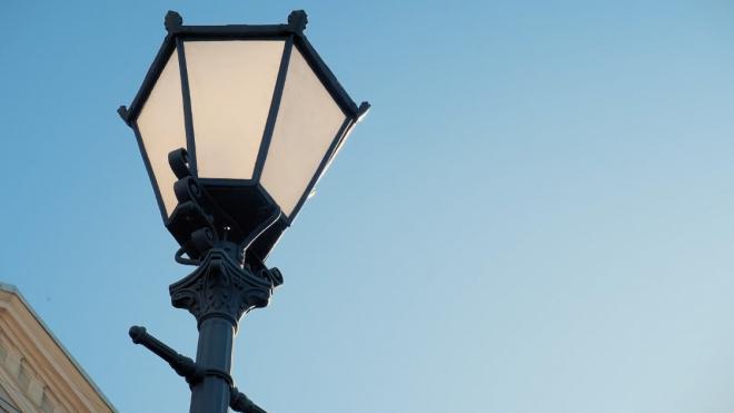 В Пулковском парке досрочно завершили установку уличного освещения