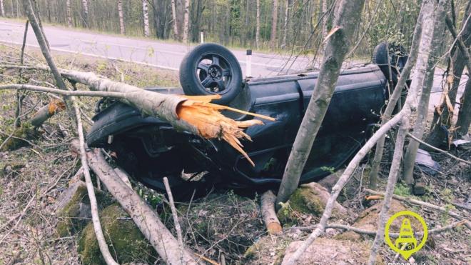 "Молодой водитель без прав съехал в кювет на 73 километре дороги "" Зеленогорск – Выборг"""