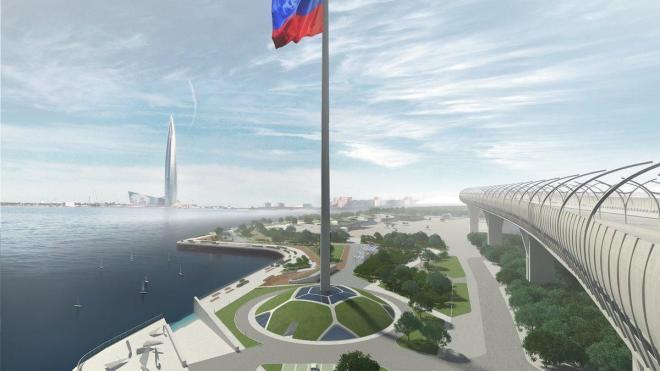 """Огромный флагшток тестируют у стадиона """"Зенит"""""""