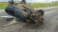 Водитель вылетел на крышу авто в ДТП с перевертышем