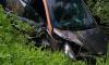 В Тосно неизвестный оставил каршеринговый автомобиль в кювете