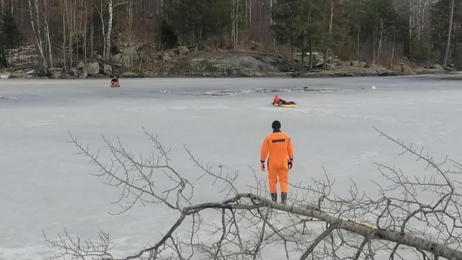 Житель Ленобласти погиб, провалившись под лед реки Вуокса