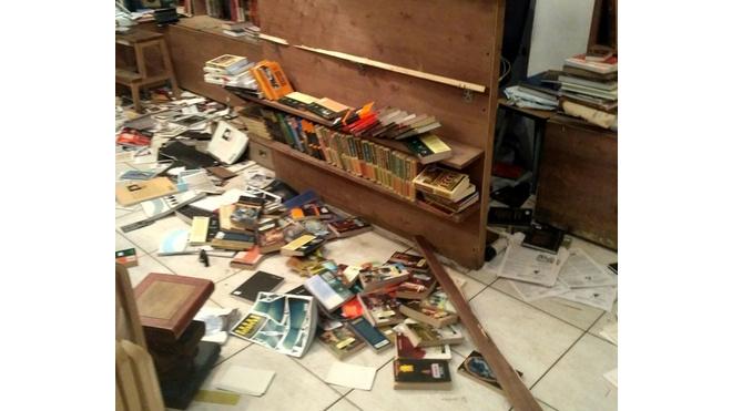 Книжный магазин на Маяковского разгромил неадекват с топором