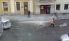 На улице Жуковского кусок стены упал прямо на головы прохожим