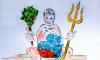 Петербургская художница нарисовала голого Порошенко своей грудью