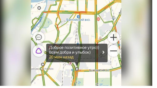 На дорогах Петербурга наблюдается аномальное затишье