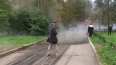 Из-за прорыва трубы на улице Есенина затопило машины ...