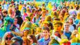 На фестивале красок в Петербурге было использовано ...