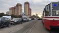 Volkswagen заблокировал движение трамваев на Бухарестской ...
