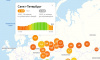 Утром Петербург занял второе место по самоизоляции среди крупных городов РФ