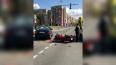 В Колпино мотоциклист столкнулся с Toyota Corolla