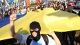 """Неонаци партии """"Свобода"""" заблокировали здание Россотрудн..."""