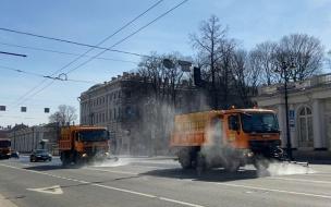 В Смольном показали, как дезинфицируются петербургские улицы