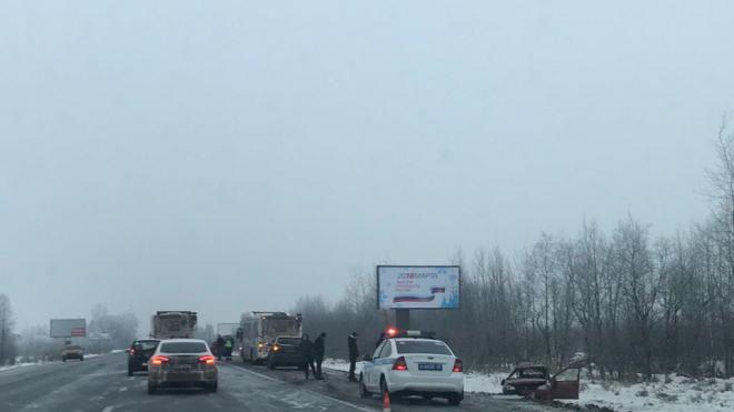 """В Гатчинском районе произошло страшное ДТП с автобусом и """"Ладой"""""""