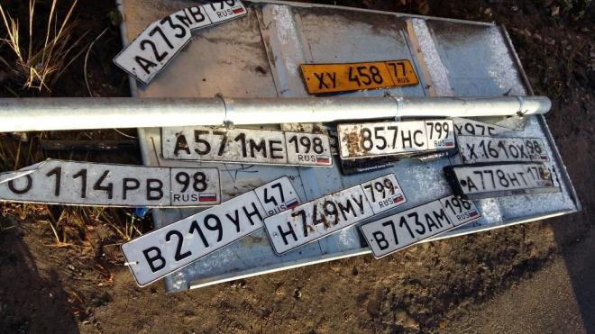 После двухдневного потопа водители ищут номера в Мурино