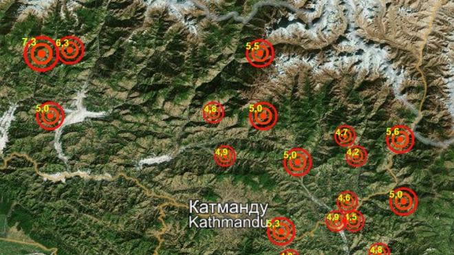 Число жертв землетрясения в Непале превысило 2 тысячи человек