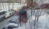В Петербурге тушат пожар в квартире на Луначарского