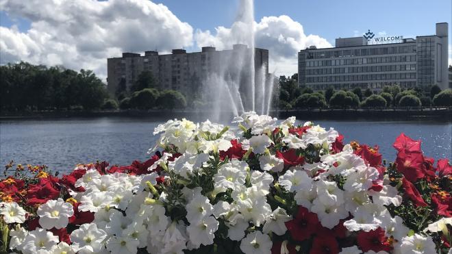 В Салакка-Лахти снова запущен фонтан на воде