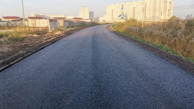 В Парголово завершается ремонт Михайловской дороги