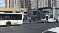 "У метро ""Звездная"" автобус снес дверь маршрутке"
