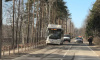 В Ольгино автобус снес столб