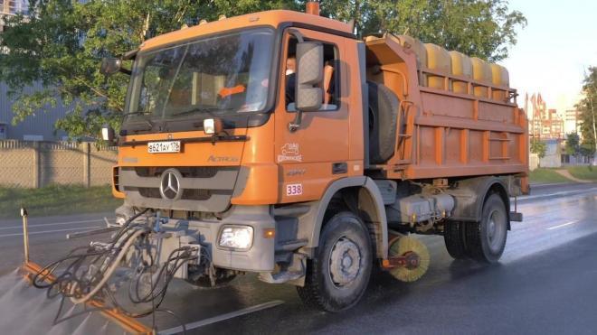 Дорожники за неделю вывезли с улиц Петербурга около 2,5 тонн мусора