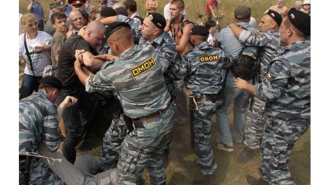 ОМОНовцы избили защитников  Химкинского леса