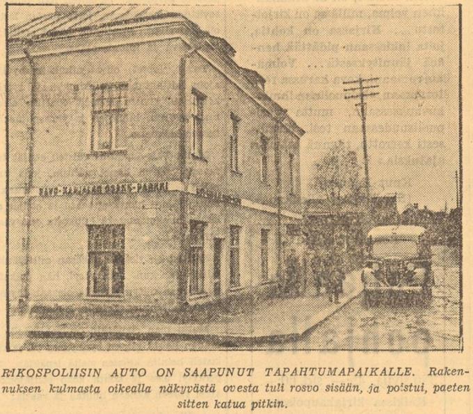 Ограбление банка в Выборге Газета Karjala