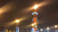Горящие ростральные колонны удивили петербуржцев