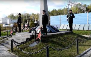 Церемония перезахоронения бойцов прошла под Выборгом
