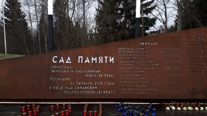 Петербург 31 октября вспомнит жертв страшной катастрофы над Синаем