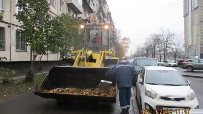 В октябре с улиц Петербурга вывезли более 13,2 тысяч тонн мусора