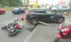 В Выборгском районе  ДТП: сбили мотоциклиста