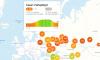 Утром Петербург попал в красную зону индекса самоизоляции