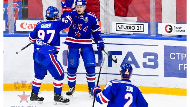 СКА сократил отставание от ЦСКА в Западной конференции КХЛ на одно очко