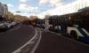 Возле Большеохтинского моста образовалась огромная пробка из-за тройного ДТП