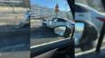 Автомобиль врезался в забор на проспекте Испытателей
