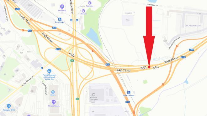 На развязке КАД с Пулковским шоссе на месяц перекроют несколько полос