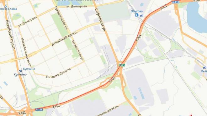 С 10 по 17 мая на участке КАД будет перекрыта одна полоса движения