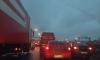 Петербуржцы связывают пробки на КАД с приездом Медведева