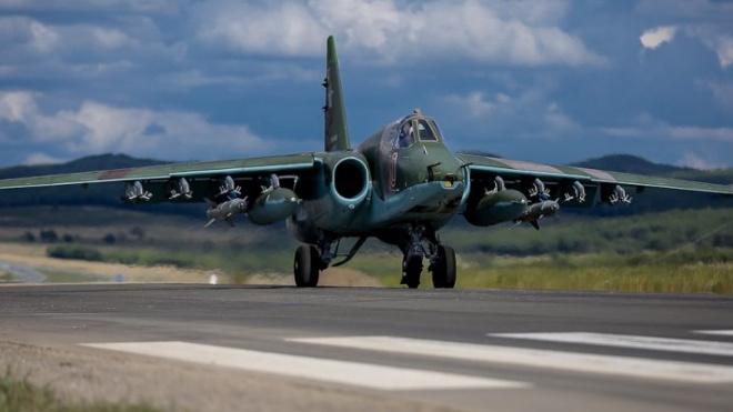 На борту истребителя Су-25 в Липецке произошло возгорание