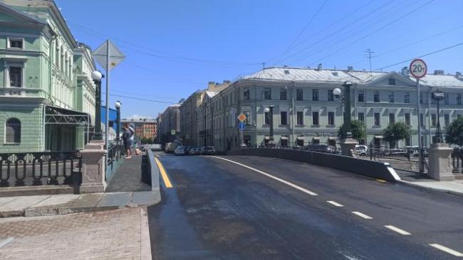 В Северной столице завершен капремонт Торгового моста