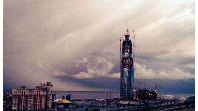"""Есть рекорд: """"Лахта-центр"""" стала самым высоким строением в Петербурге"""
