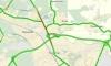 Жесткая пробка образовалась на Выборгском шоссе из-за ДТП с фурой и маршруткой
